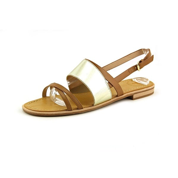 French Connection Hallie Women Open-Toe Synthetic Tan Slingback Sandal