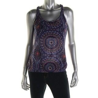 Belle du Jour Womens Juniors Tank Top Knit Printed