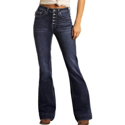 Rock & Roll Cowgirl Western Jeans Womens Trouser Dark Vintage