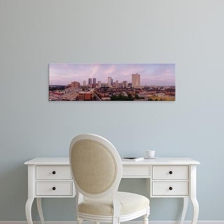 Easy Art Prints Panoramic Images's 'Skyscrapers in a city, Fort Worth, Texas, USA' Premium Canvas Art
