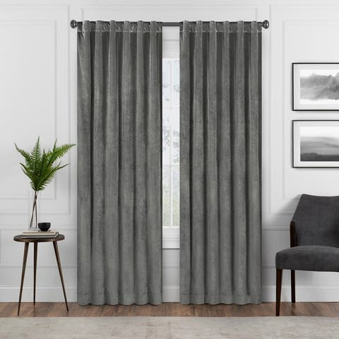 Eclipse Harper Velvet Absolute Zero Blackout Window Panel