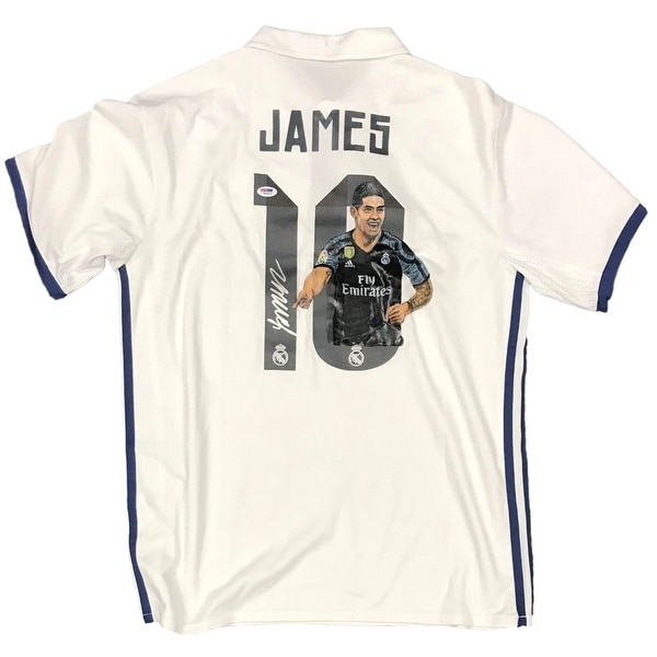 new arrival e88b9 34f30 Shop James Rodriguez Signed Real Madrid Adidas Jersey w ...