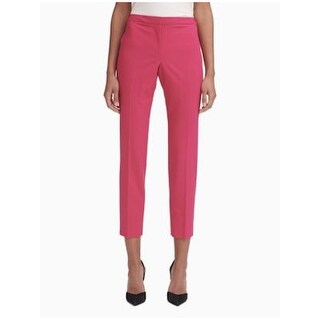 CALVIN KLEIN Womens Pink Straight leg Wear To Work Pants  Size 14