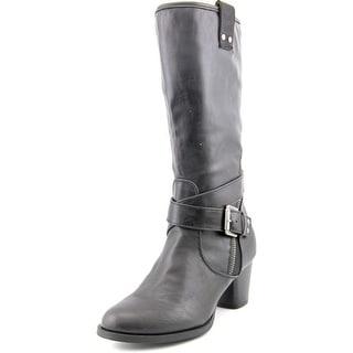 Rialto Caparella Women Round Toe Synthetic Black Mid Calf Boot