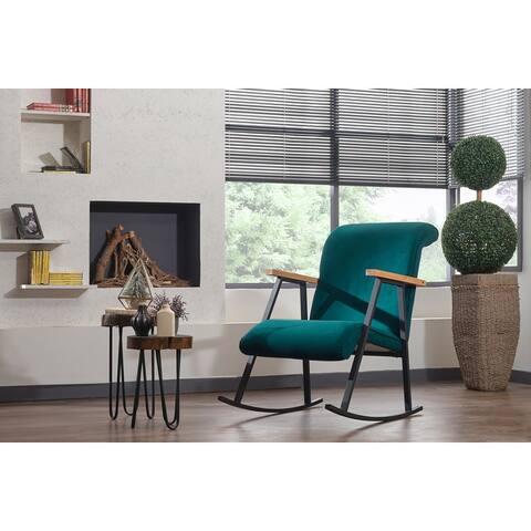 Yoyo Upholstered Metal Frame Rocking Chair