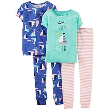 aca0dd4ef Shop Carter's Little Girls' 4 Piece Pajama Set (Toddler/Kid)-Boats-4T -  Multi - Free Shipping On Orders Over $45 - Overstock.com - 18534377