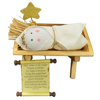 The Good Deeds Manger Interactive Nativity Set
