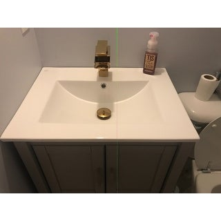 Bathroom Drop-in Sink Square Self-Rimming White China | Renovator's Supply