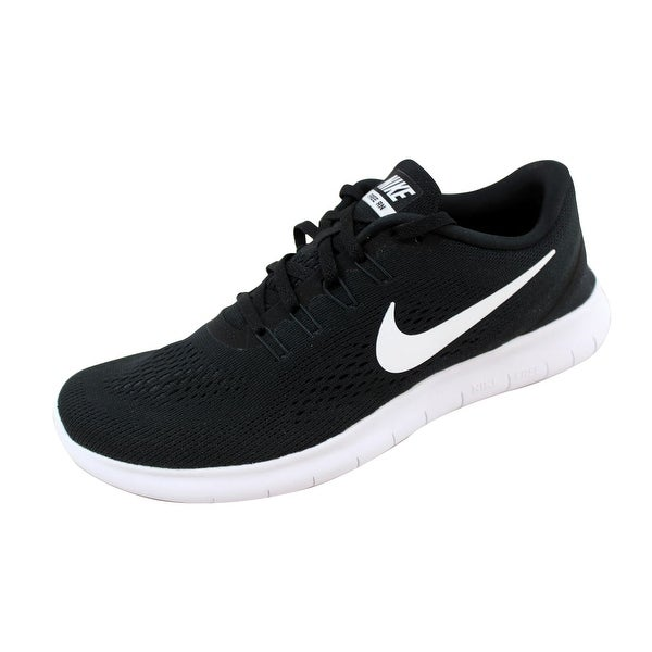 Shop Nike Men's Free RN BlackWhite Anthracite 831508 001