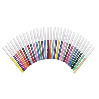 School Smart Non-Toxic Washable Marker, Fine Tip, Assorted Colors, Pack of 30