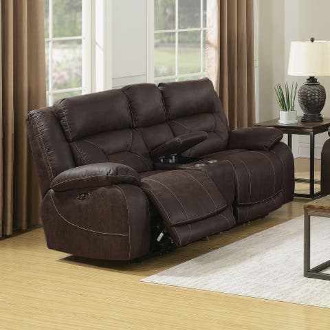 Asbury Power Reclining Loveseat with Console by Greyson Living