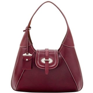 Dooney & Bourke Florentine Toscana Front Stitch Hobo (Introduced by Dooney & Bourke at $428 in Sep 2016) - Bordeaux