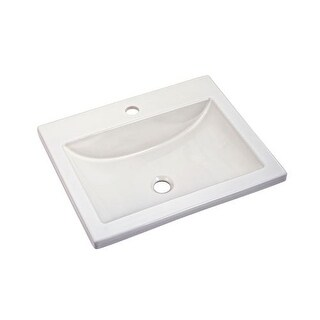 "American Standard 643.001 21-1/4"" Drop-In Bathroom Sink with 1 Hole Drilled and Overflow"