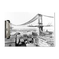 Manhattan Bridge Construction NYC - Vintage Photo (Acrylic Clipboard)