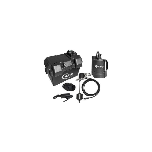 623ec473a933 Shop PROFLO PF92910 Sump Pump Back Up System - Free Shipping Today -  Overstock.com - 16081200