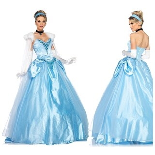 Disney Princess Womens Dlx Cinderella Ball Gown Costume