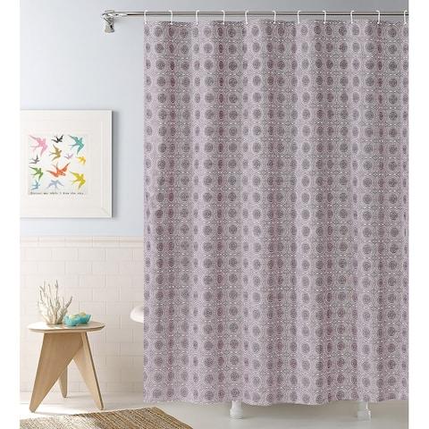 Purple Medallion 13-piece Shower Curtain Set