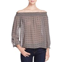 Sanctuary Womens Blouse Sheer Pattern