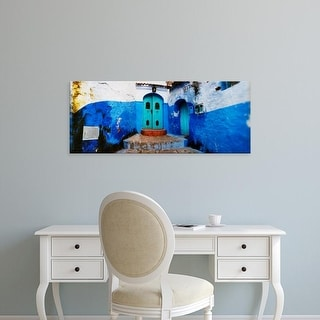 Easy Art Prints Panoramic Images's 'Medina, Chefchaouen, Morocco' Premium Canvas Art