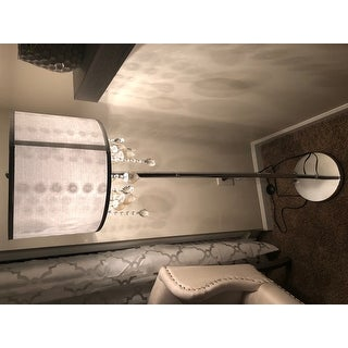 Audrina Drape Crystal Floor Lamp by iNSPIRE Q Bold