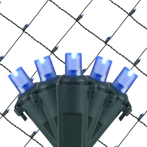 Wintergreen Lighting 20862 4' x 6' Blue LED Net - 100 Lights