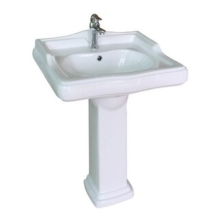 Renovator's Supply Scratch Resistant White Vitreous China Pedestal Sink
