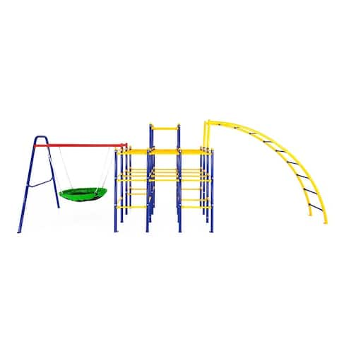 ActivPlay Modular Jungle Gym with Saucer Swing and Arched Ladder Climber Kit