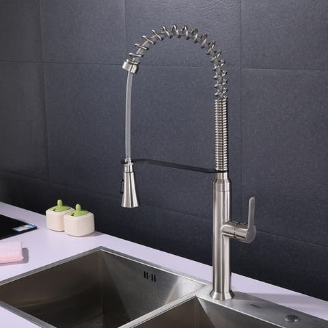 Kitchen Faucets with Pull Down Sprayer Single Handle One Hole Faucet