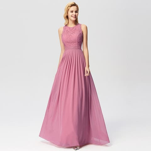 a3f780c98ba Ever-Pretty Women s Lace Long Formal Evening Bridesmaid Party Dress for  Women 07391