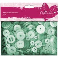 Green - Papermania Buttons Assorted 250G