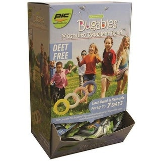PIC BCBTS-200 Bugables Mosquito Repellent Band Display, Deet Free