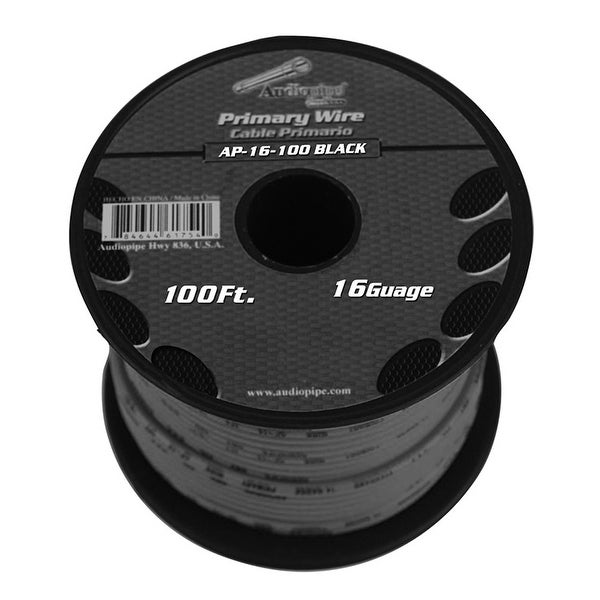 Audiopipe 16 gauge 100ft Black primary wire