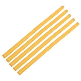 11mmx270mm Heating Gun Hot Melt Glue Adhesive Stick Yellow 5pcs