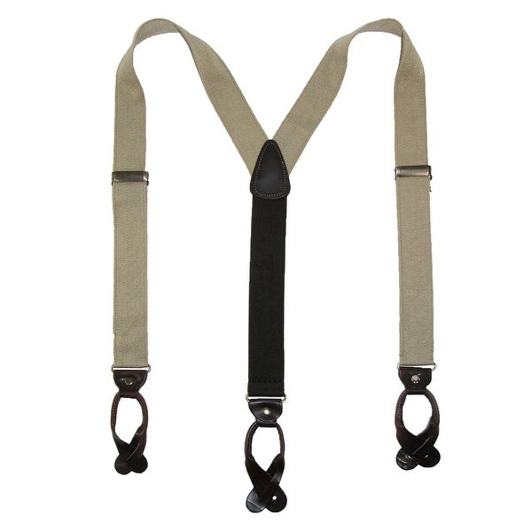 CTM® Men's Canvas Button-End Old West Suspenders (Tall Available)