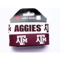Texas AandM Rubber Wrist Band (Set of 2) NCAA