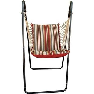 Algoma 152562BR Hanging Chair with Frame, Floral Blue