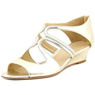 Via Spiga Tammy Women Open Toe Leather Gold Sandals