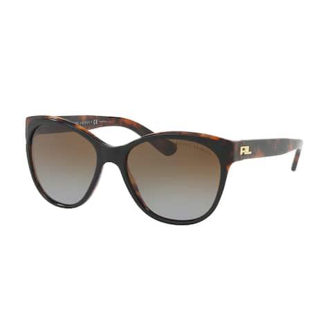 Ralph Lauren RL8156 5260T5 57 Top Black/havana Jerry Woman Cat Eye Sunglasses
