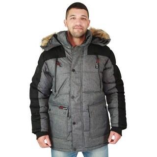 Canada Weather Gear Men's Faux Down Goose Heavy Weight Parka Winter Jacket Coat