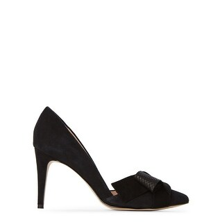Tahari Womens Betsy Leather Pointed Toe D-orsay Pumps