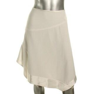 DKNY Womens Asymmetrical Skirt Asymmetrical Hem Lined