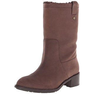 Cole Haan Womens Mid-Calf Boots Leather Waterproof