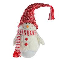 """18"""" Tumbling """"Sam the Snowman"""" with Red hat and Scarf Christmas Decoration"""