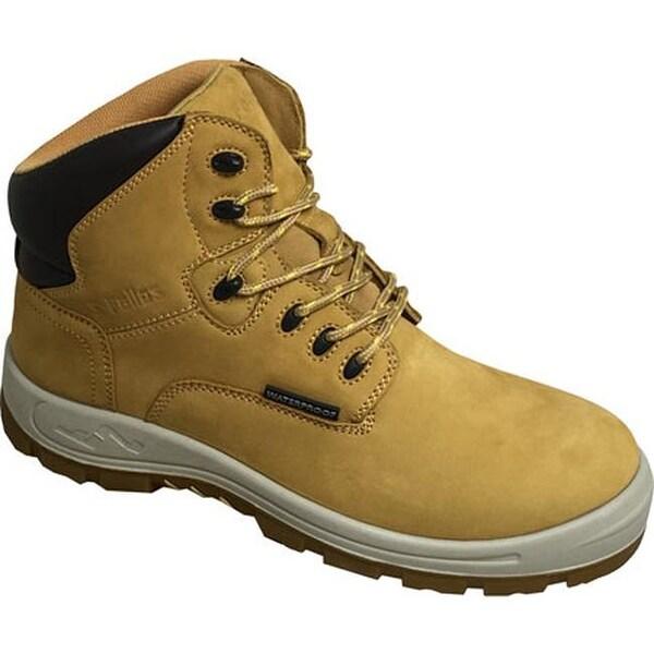 """S Fellas by Genuine Grip Men's 6062 Poseidon Waterproof 6"""" Hiker Work Boot Wheat Full Grain Leather"""