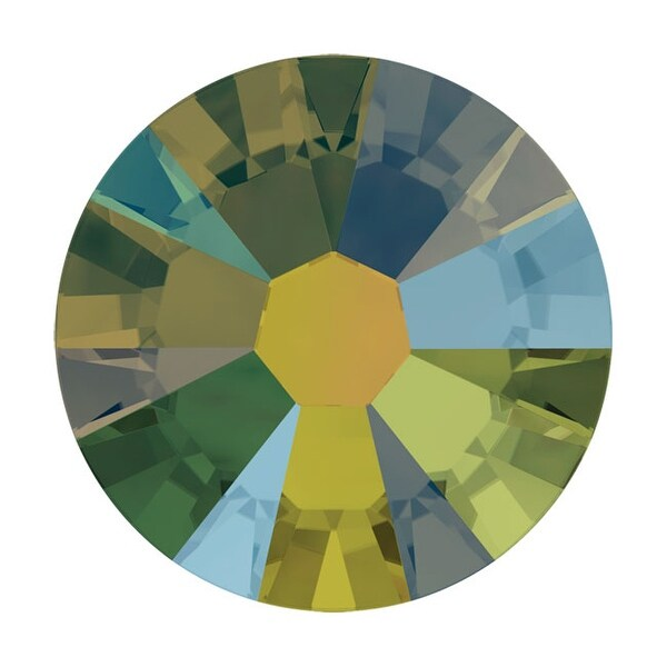 Swarovski Elements Crystal, Round Flatback Rhinestone SS7 2.2mm, 72 Pieces, Crystal Iridescent Green F