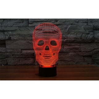 3D Illusion Halloween Skull Lamp Acrylic LED Night Light Micro USB Table Desk Lamp