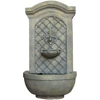 Sunnydaze Rosette Leaf Outdoor Wall Fountain Lightweight - Multiple Colors