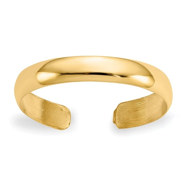 14K Yellow Gold High Polished Toe Ring By Versil