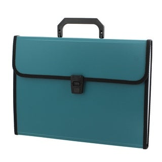 Unique Bargains Rectangle Paper 13 Slots Document File Holder Organizer Bag Green