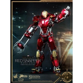 Iron Man 3 1:6 Scale Hot Toys Power Pose Collectible Figure: Red Snapper Mark XXXV